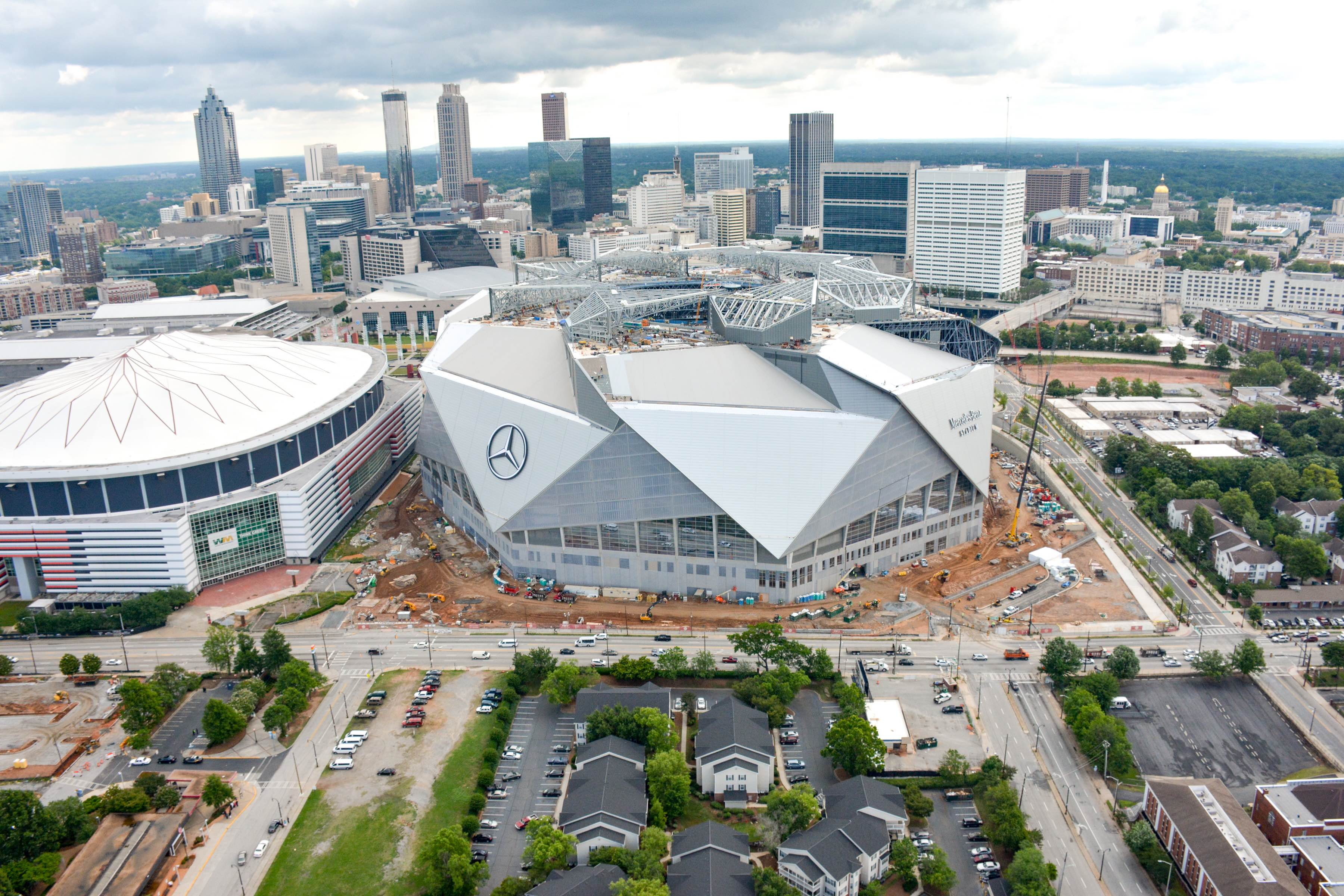 Hotel near mercedes benz stadium the westin peachtree for Atlanta ga mercedes benz stadium